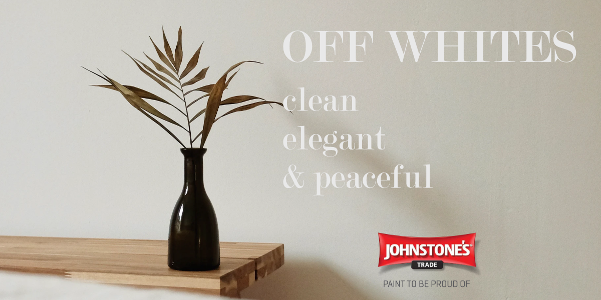 Johnstone's Off White Paints - clean, elegant and peaceful.