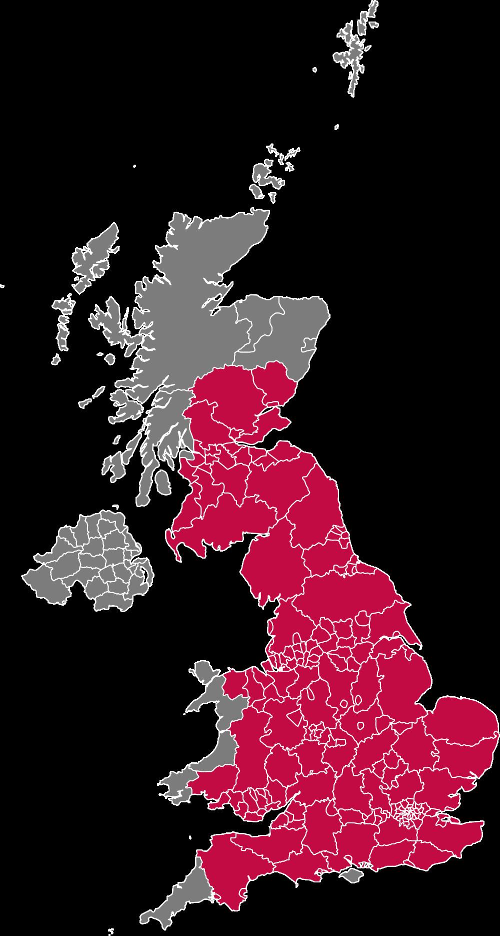 Map of mainland UK