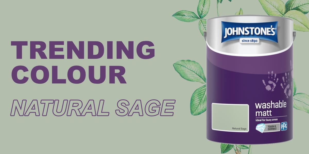 Johnstones 5 Litre Washable Matt Emulsion Paint - Natural Sage