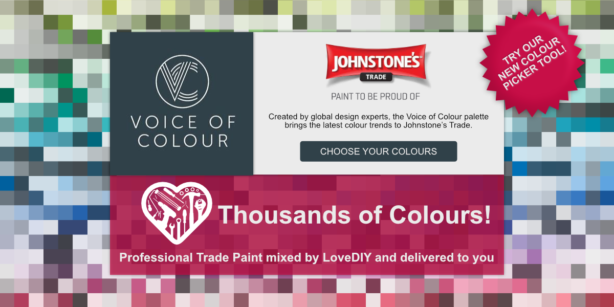 Choose from thousands of colours!